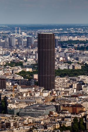 Aerial View on Paris and Montparnasse from Eiffel Tower, France photo