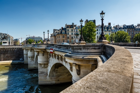 Pont Neuf and Cite Island in Paris, France Banco de Imagens
