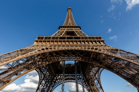 Wide View of Eiffel Tower from the Ground, Paris, France Stock Photo - 21223570