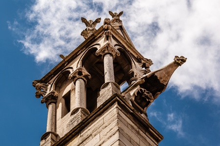notre dame de paris: Notre Dame de Paris Cathedral Details, Paris, France Stock Photo