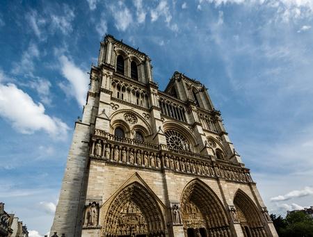Notre Dame de Paris Cathedral on Cite Island, France photo