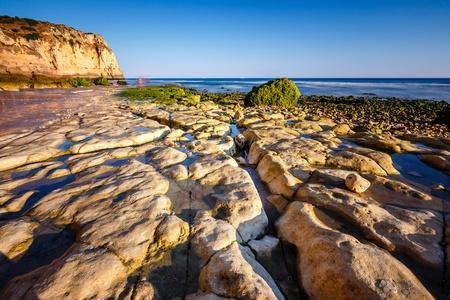 Porto de Mos Beach in Lagos, Algarve, Portugal photo