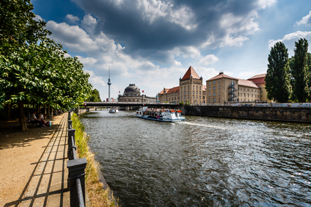 River Spree Embankment and Museum Island, Berlin, Germany photo
