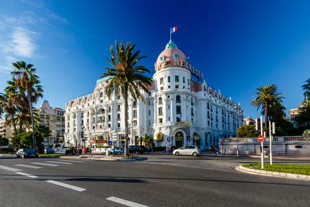 nice weather: Luxury Hotel Negresco on English Promenade in Nice, French Riviera, France