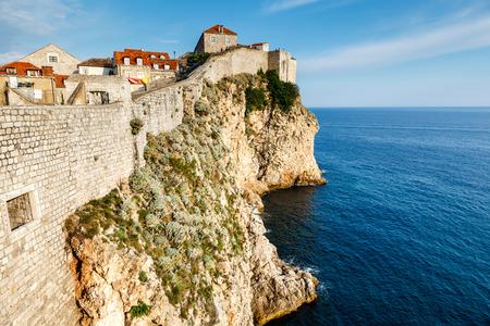 croatia dubrovnik: City of Dubrovnik and  its Defensive Wall in Dalmatia, Croatia