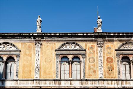 italian architecture: Palace Facade on Piazza dei Signoria in Verona, Veneto, Italy