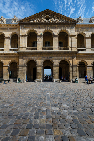 initiated: PARIS - JULY 1  Hotel des Invalides  Louis XIV initiated the project by an order dated 24 November 1670, as a home and hospital for aged and unwell soldiers in Paris, France on July 1, 2013