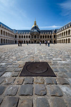 dated: PARIS - JULY 1  Hotel des Invalides  Louis XIV initiated the project by an order dated 24 November 1670, as a home and hospital for aged and unwell soldiers in Paris, France on July 1, 2013
