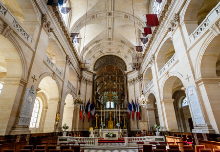 PARIS - JULY 1  Chapel of Saint Louis des Invalides on July 1, 2013 in Paris  Chapel built in 1679 is the burial site for some of France