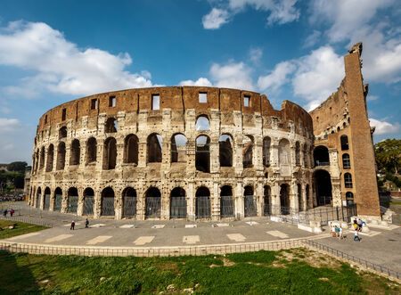 Colosseum or Coliseum, also known as the Flavian Amphitheatre, Rome, Italy photo