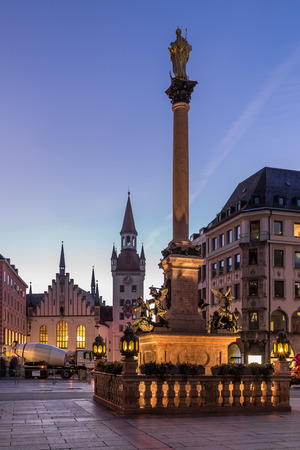 Old Town Hall and Marienplatz in the Morning, Munich, Bavaria, Germany photo