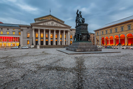The National Theatre of Munich, Located at Max-Joseph-Platz Square in Munich, Bavaria, Germany photo