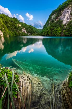 sunk: Sunk Boat in Plitvice Lakes National Park in Croatia