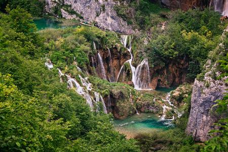 plitvice: Waterfall in Plitvice Lakes National Park, Croatia