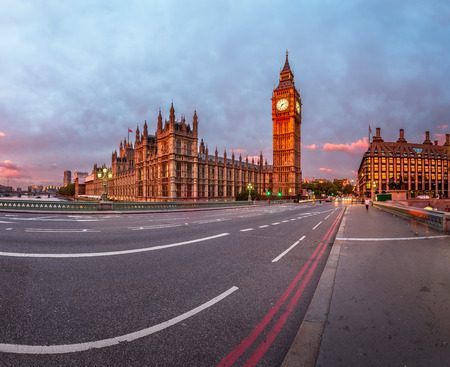 the palace of westminster: Queen Elizabeth Clock Tower and Westminster Palace in the Morning, London, United Kingdom