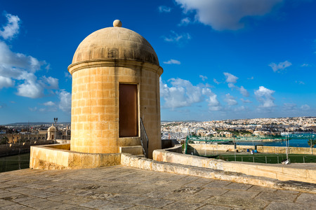 hastings: Watch Tower in Hastings Garden in Valletta, Malta