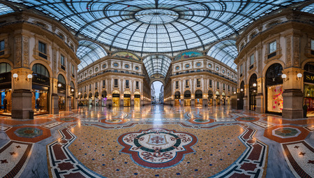 MILAN, ITALY - JANUARY 13, 2015:  Galleria Vittorio Emanuele II in Milan. It