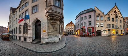 Panorama of Tallinn Old Town in the Morning Tallinn Estonia