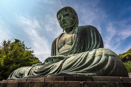 kamakura: The Great Buddha of Kamakura Kamakura Daibutsu a bronze statue of Amida Buddha in Kotokuin Temple Kamakura Kanagawa Japan Stock Photo