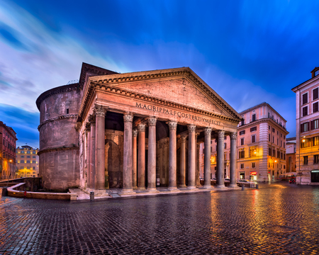Pantheon and Piazza della Rotonda in the Morning, Rome, Italy