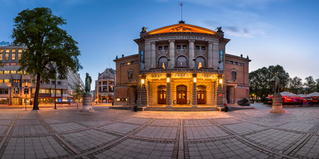 OSLO, NORWAY - June 11, 2014: The National Theater in Oslo. The theatre had its first performance on 1 September 1899.