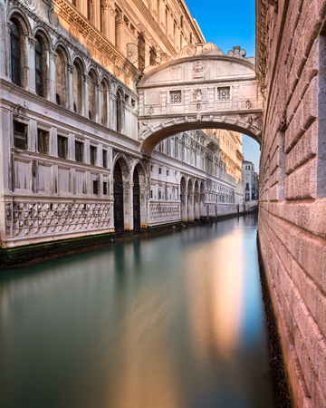Bridge of Sighs and Doges Palace in Venice, Italy