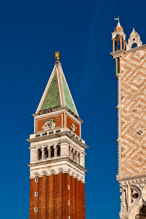 Campanile and Doges Palace in Venice, Italy