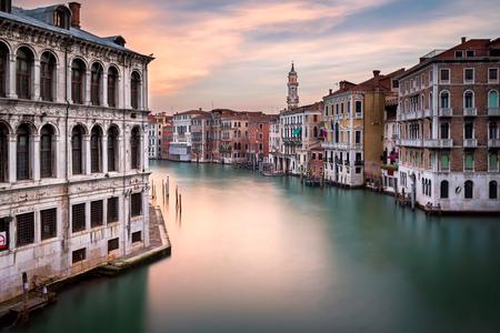 View of Grand Canal and Santi Apostoli Church from Rialto Bridge, Venice, Italy Stock Photo