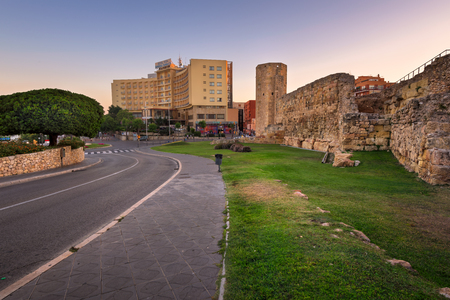 TARRAGONA, SPAIN - JUNE 27, 2016: Ruins of Ancient Roman Circus in Tarragona. The circus was built at the end of the first century A.D., possibly in the time of the emperor Domitian. Stock Photo