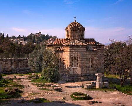 Church of the Holy Apostles in Agora, Athens, Greece Stock Photo