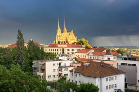 The Cathedral of Saints Peter and Paul in the Evening, Brno, Czech Republic