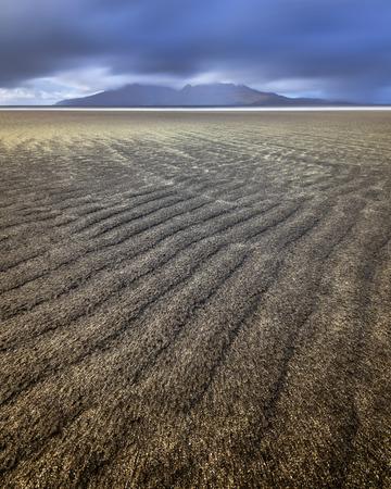 サンディビーチ、Eigg 島、スコットランド、イギリス 写真素材