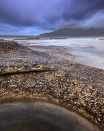 isles: Rocky Beach in the Morning, Isle of Eigg, Scotland, United Kingdom