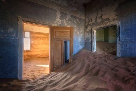 In the Ghost Town of Kolmanskop, Namibia 写真素材