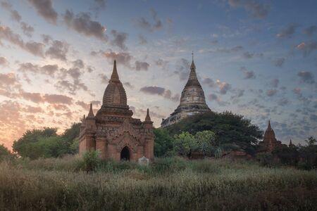 Shwesandaw Pagoda at Sunset, Bagan, Myanmar 写真素材