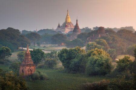 Ananda Temple at Sunrise, Bagan, Myanmar 写真素材
