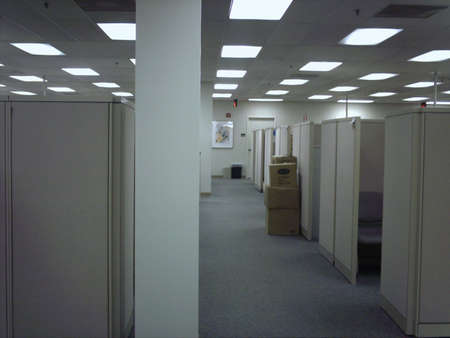 office cubicle: An empty place of work Stock Photo