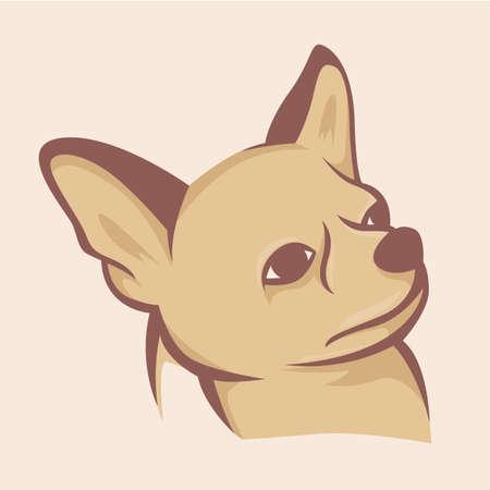 Dog illustration vector with vintage color Illustration