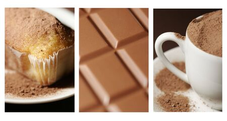 bar ware: This is a collage of three food related photos.