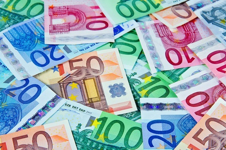 credit union: European currency notes - euros
