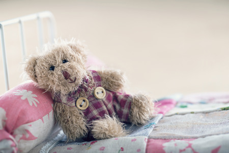 Teddy bear in a toy ber, relaxing concept