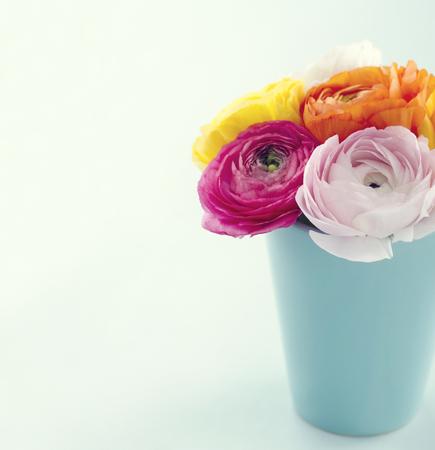 Boeket van kleurrijke bloemen ranunculus