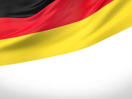 3D illustration of Germany flag