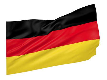 Ilustración 3D de la bandera de Alemania