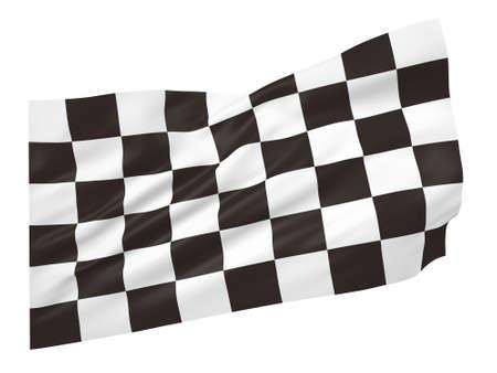 Racing flag in 3D