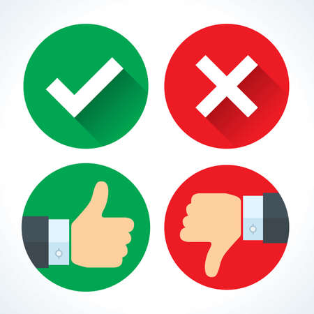 Yes or No icons Stock Vector - 107658144