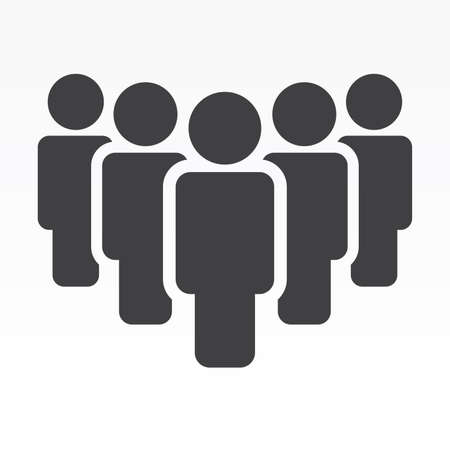 people vector icon  イラスト・ベクター素材