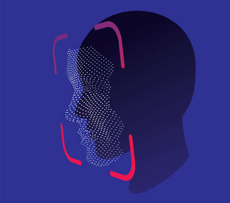 Face ID Scan Vector Royalty Free Cliparts, Vectors, And