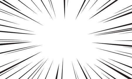 Comic speed radial background