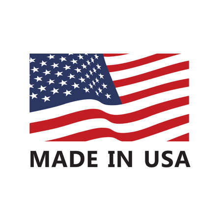Vector made in USA sign 免版税图像 - 112400439